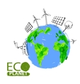 eco concept planet vector image vector image