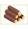firewood isometric flat 3d vector image vector image