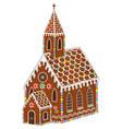 gingerbread church vector image vector image