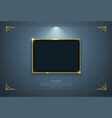 gold frame border picture retro art vector image vector image