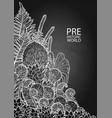graphic prehistoric plants vector image vector image