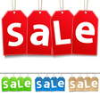 hanging sale tags vector image vector image