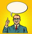 happy businessman business finance vector image vector image