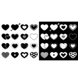 heart big icon set different shape arrow dash vector image vector image