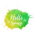 hello spring text plate spring text vector image