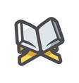 holy quran book icon cartoon vector image