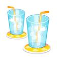 icon ice drink vector image vector image