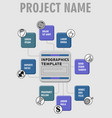 infographic process visualization template vector image vector image