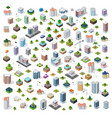 isometric city set street vector image vector image