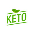 keto diet lavel icon high ketogenic protein diet vector image vector image