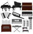 keyboard musical instrument musician vector image vector image