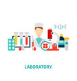 laboratory medical concept vector image vector image