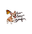 live love woof with dog vector image vector image