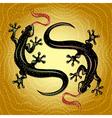 Lizards dance vector image vector image