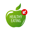 logo green apple for a healthy diet vector image vector image
