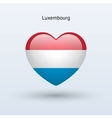 Love Luxembourg symbol Heart flag icon vector image vector image