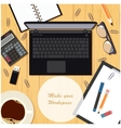 Make your workspace banner4 vector image