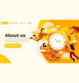 modern banner template with tiny people and work vector image vector image