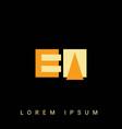 modern creative shaped ea ae e a logo initial
