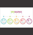 modern infographic colorful design template 3 vector image vector image