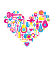 movie heart vector image