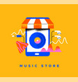 music store phone app cartoon icon concept vector image vector image