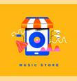 music store phone app cartoon icon concept vector image