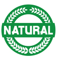 natural label vector image vector image