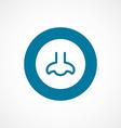 nose bold blue border circle icon vector image vector image