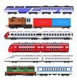 passenger train set vector image