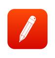 pencil icon digital red vector image