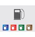 Petrol pump icons vector image vector image