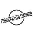 project-based learning stamp vector image vector image