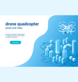 quadcopter photo video concept02 vector image vector image