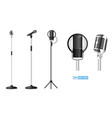 realistic microphone or mic standing vector image