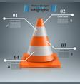 road repair - cone icon vector image