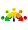 scale of customer satisfaction vector image vector image