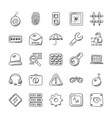 security creative doodle icons vector image vector image