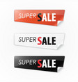 set of color stickers with the text super sale vector image vector image