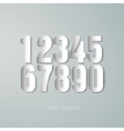 set of paper numerals vector image