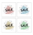 set of trendy flat geometric banners collection vector image vector image