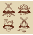 Set of vintage bakery badges and labels vector image