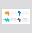 set orange and blue turquoise black elements vector image vector image