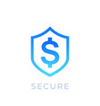 shield and dollar icon vector image