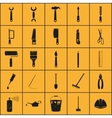 simple set tools related icons vector image