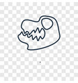 skull concept linear icon isolated on transparent vector image