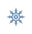 snowflake decoration line icon concept snowflake vector image