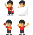 Soccer Boy Customizable Mascot 13 vector image vector image