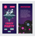 space astronaut dj dance party bilateral vector image vector image