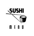 suchi menu vector image
